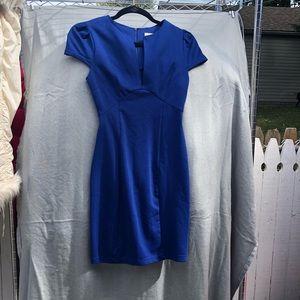 Blue knee length dress